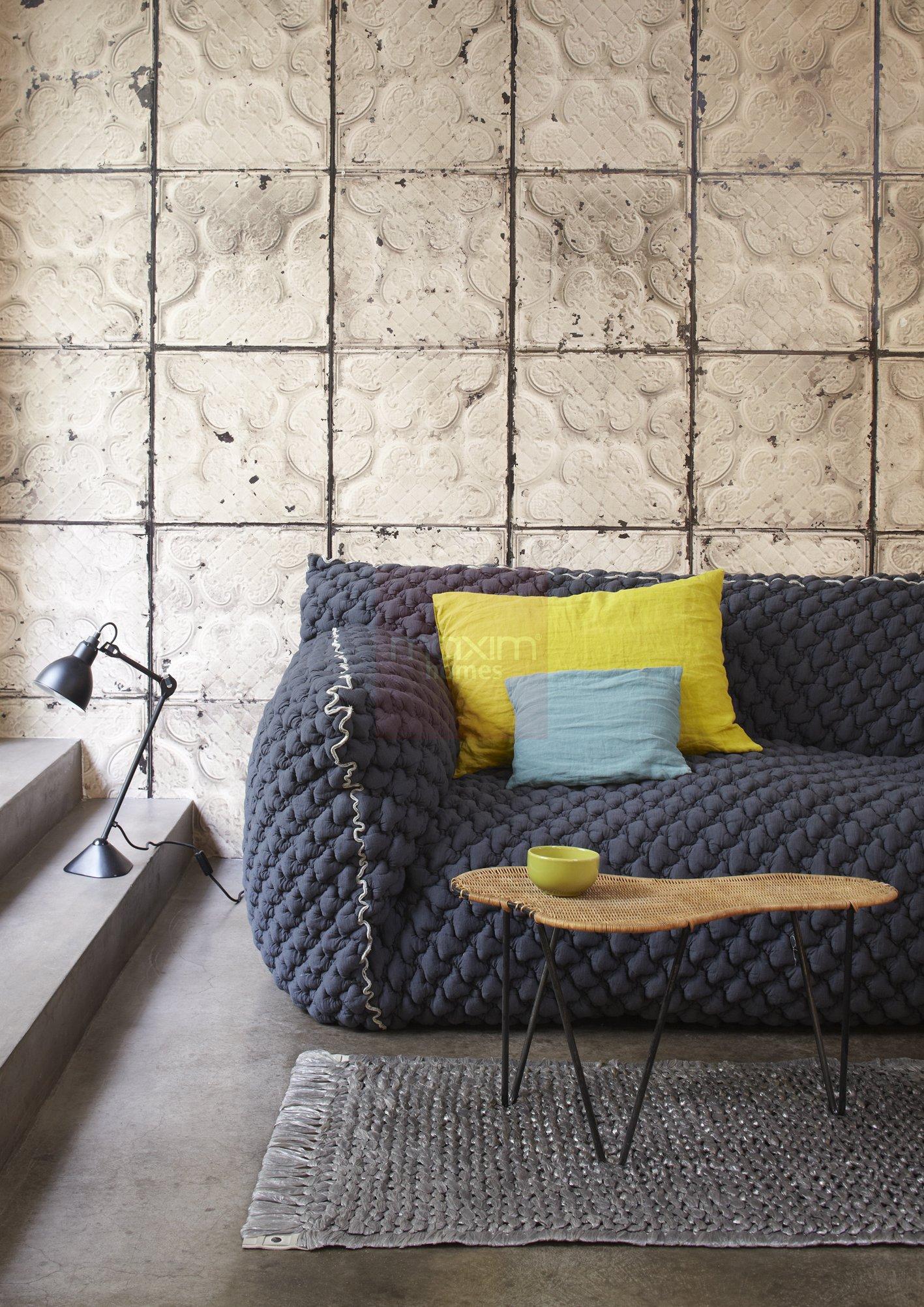 Brooklyn Tins Wallpaper By Merci Maxim Homes